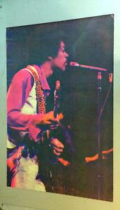 jimi hendrix vintage blacklight poster gemini rising garcia psychedelic 1970 ebay. Black Bedroom Furniture Sets. Home Design Ideas