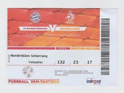 2019 Neuestes Design Original Ticket Testspiel 22.05.2012 Bayern MÜnchen - Niederlande !! Selten