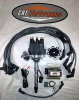Jeep V8 290-401 Small Cap Hei Distributor Black + 50k Coil + Plug Wires