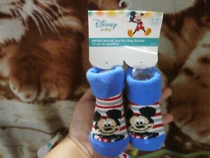 CLOSEOUT-SALE-Imported-From-USA-Mickey-Mouse-Baby-Booties-0-12M-A-4