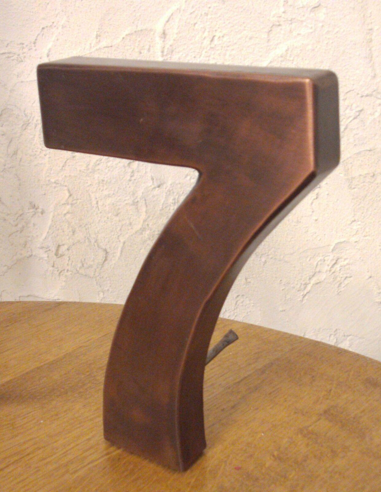 Hausnummer Nummer 18 cm Höhe Handarbeit Kupfer Kupferhausnummer NEU