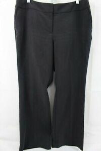 Talbots-Stretch-Polyester-amp-Rayon-Blend-Dark-Gray-Boot-Cut-Pants-Size-14P