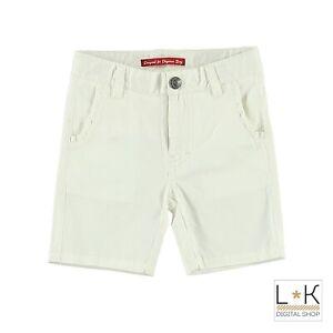 Bermuda-in-Cotone-Bianco-Tinta-Unita-Neonato-Sarabanda-M530