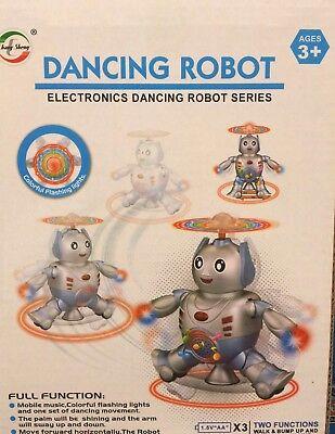 A Batteria Luci & Musica Elettronica Dance Robot Giocattolo Per Bambini Oltre 3-mostra Il Titolo Originale