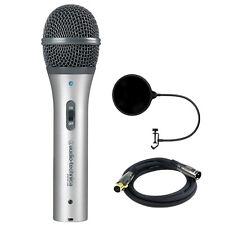 Audio-Technica Cardioid Dynamic USB/XLR Microphone w/ Mic. Wind Screen Bundle