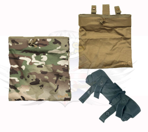 NEW VIPER TACTICAL ROLL UP FOLDING MAGAZINE RECOVERY DUMP POUCH,BLACK,GREEN,VCAM
