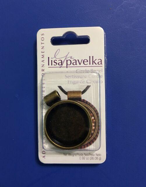 Lisa Pavelka Adornments Round Bezel Circle Pendant Blank Antique Copper