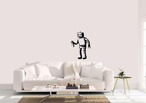 Banksy-Estilo-Spray-robot-Estupendo-Diseno-Hogar-Decoracion-Pared-Arte-Calcomania-Vinilo-Sticker