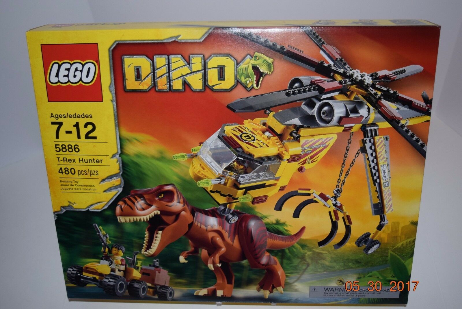 Lego 5886  DINO T-REX Hunter   480 pcsRetirougeRead Desc58845885Sealednouveau  prix bas 40%