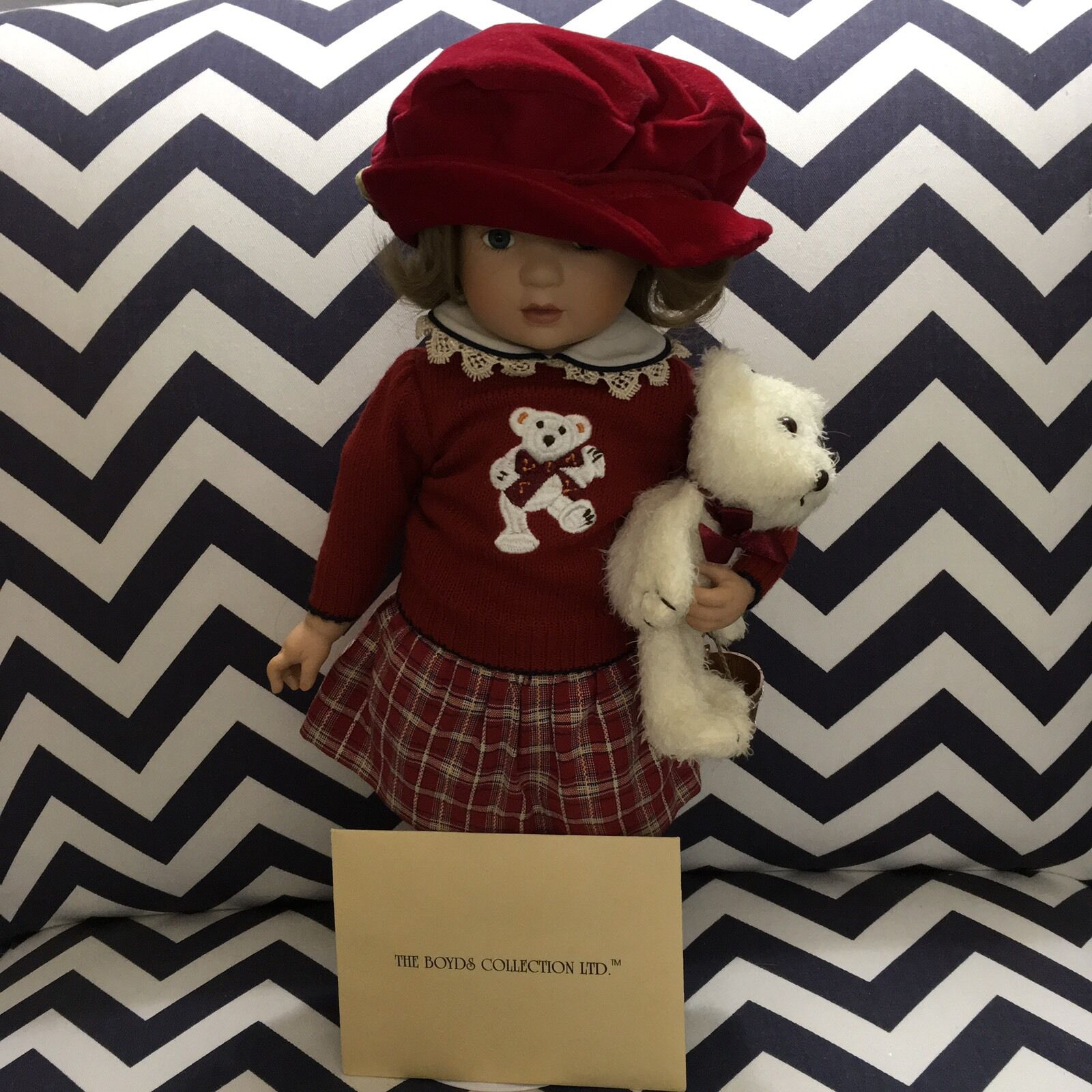 Retirosso Boyds Porcelain Collection Doll  Little Girls And Boyds  Jill Tumbles