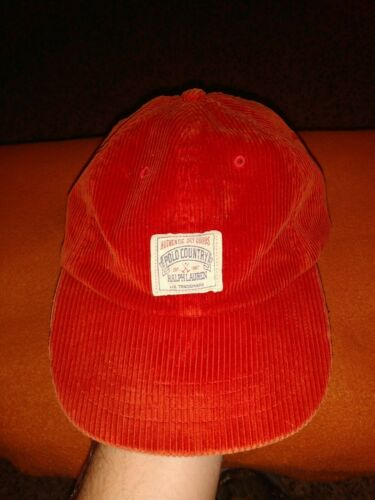 Vintage Polo Country Ralph Lauren Cordoroy Hat