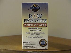 Garden Of Life Raw Probiotics Women 50 Wiser 90 Vegetarian Capsules 658010115681 Ebay