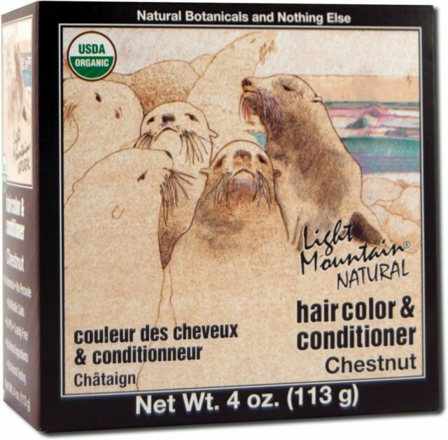 Natural Hair Color & Conditioner Chestnut by Light Mountain, 4 oz