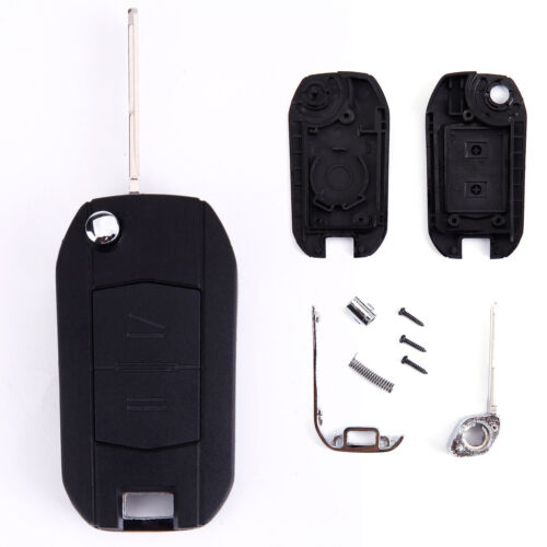 2 Button Replacement Flip Key Fob Case for Opel Vauxhall Corsa Meriva Agila