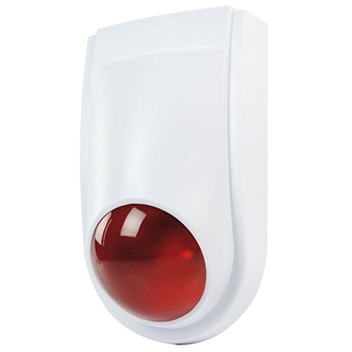 Factice Fausse Alarme Sirène Bell Security Box-IP44 Indoor//Outdoor-DEL leurre