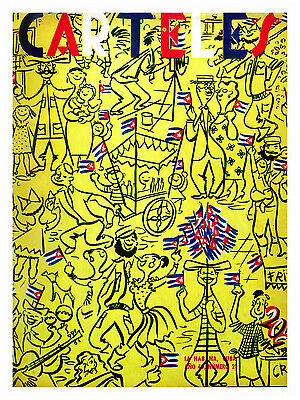 "187.Cuban interior Design poster""Scene of Party in Havana,Cuba""Flag art"