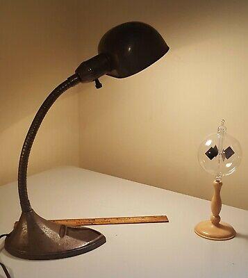 Vintage Heart Shaped Shade Gooseneck Desk Lamp 1930s 40s Ebay
