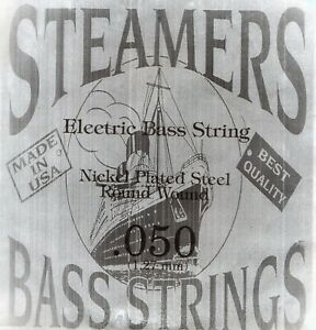 050-Gauge-034-STEAMERS-034-Single-Round-Wound-Bass-Guitar-String-US-Made