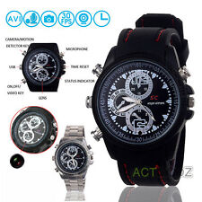 8GB Spy Wrist Watch HD Hidden Cam Camera DVR Recorder Waterproof Camcorder 30fps