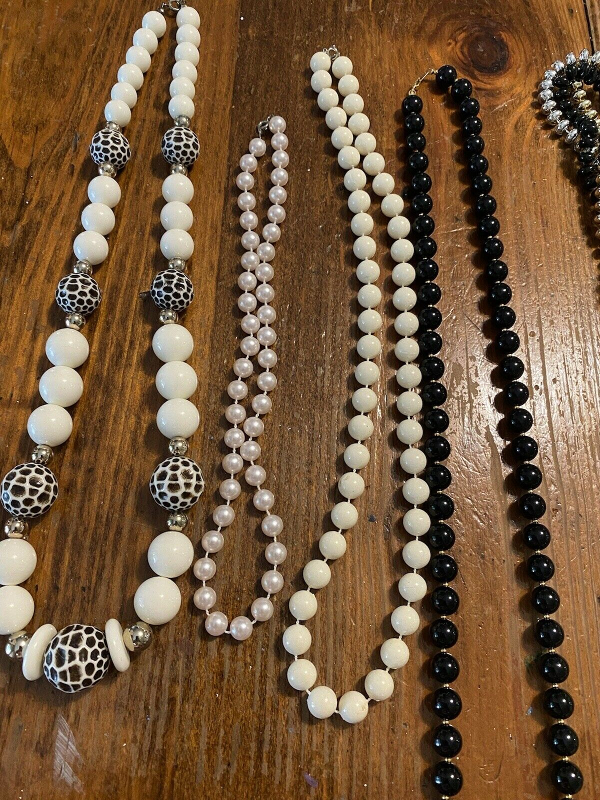 vintage Costume jewelry lot 19 pieces necklace/br… - image 4