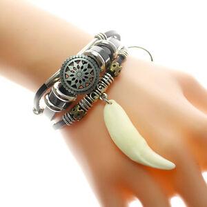 Image Is Loading Wolf Tooth Bracelet Men Women Ethnic Style Retro