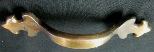 """Amerock 157 1976 Japanned Brass 1 Drawer Pull Handle French Lily 3/"""" Centers"""