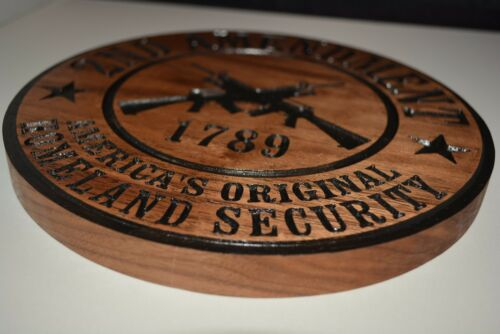 2nd Amendment Plaque Walnut Wood Plaque American Made Home Made