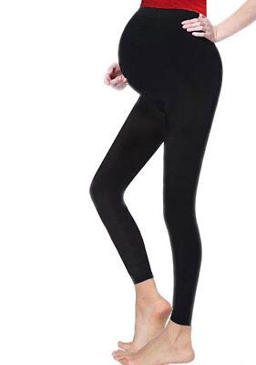 New Women ladies Maternity Full Length Black Cotton Leggings sizes plus 8-20