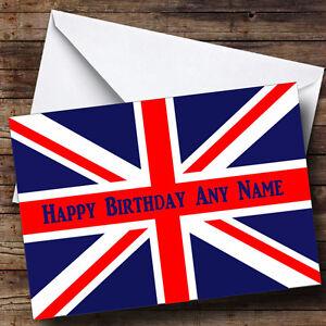British flag union jack personalised birthday greetings card ebay image is loading british flag union jack personalised birthday greetings card m4hsunfo