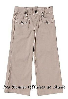 Inteligente Gcarling - Liquidation - Pantalon Basique Beige Taille Ajustable 10a - Neuf