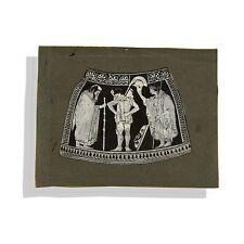Ático ROJO figura vientre Ánfora friso euthymides Hector de Troya tres juerguistas