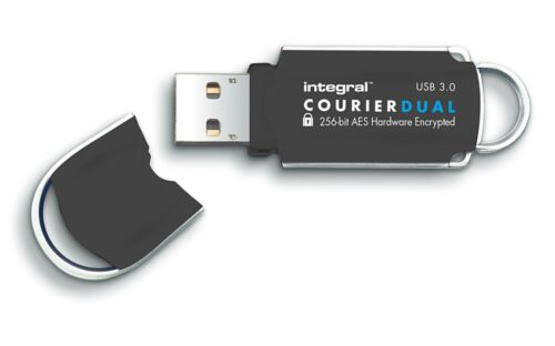 64GB Integral Courier Dual USB3.0 FIPS-197 Encrypted Flash Drive