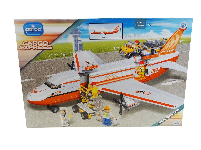 Aereo cargo express costruzioni Prico' 660 pezzi 5 personaggi 02424