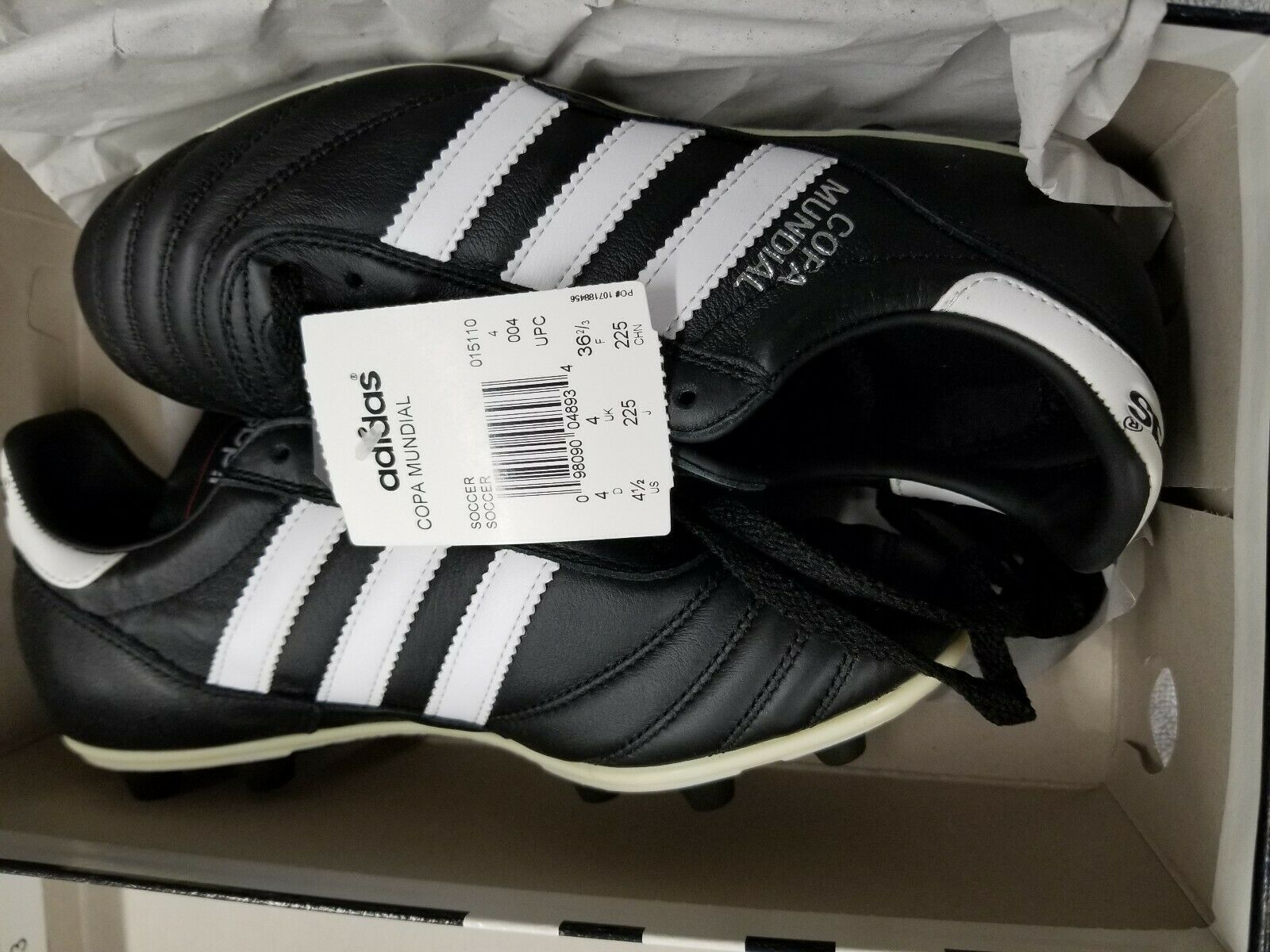 Adidas Copa Mundial Leather Soccer Cleats - Men's, SKU 015110 Size 4.5