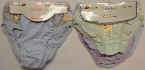 Nuovi 6 Paia di bambine Cotone Pizzo Cuore PANTS FULL SLIP età 2-3 anni A55