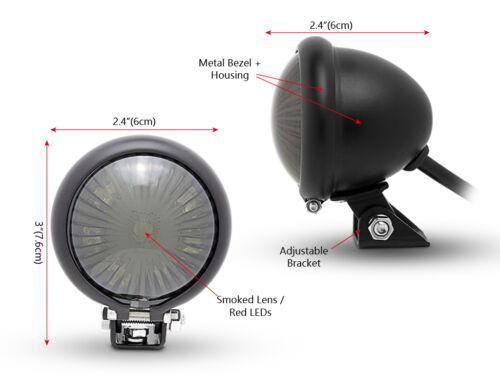 Freno Motocicleta Led Parada Luz Trasera para proyecto de estilo vintage y retro negro mate Personalizado