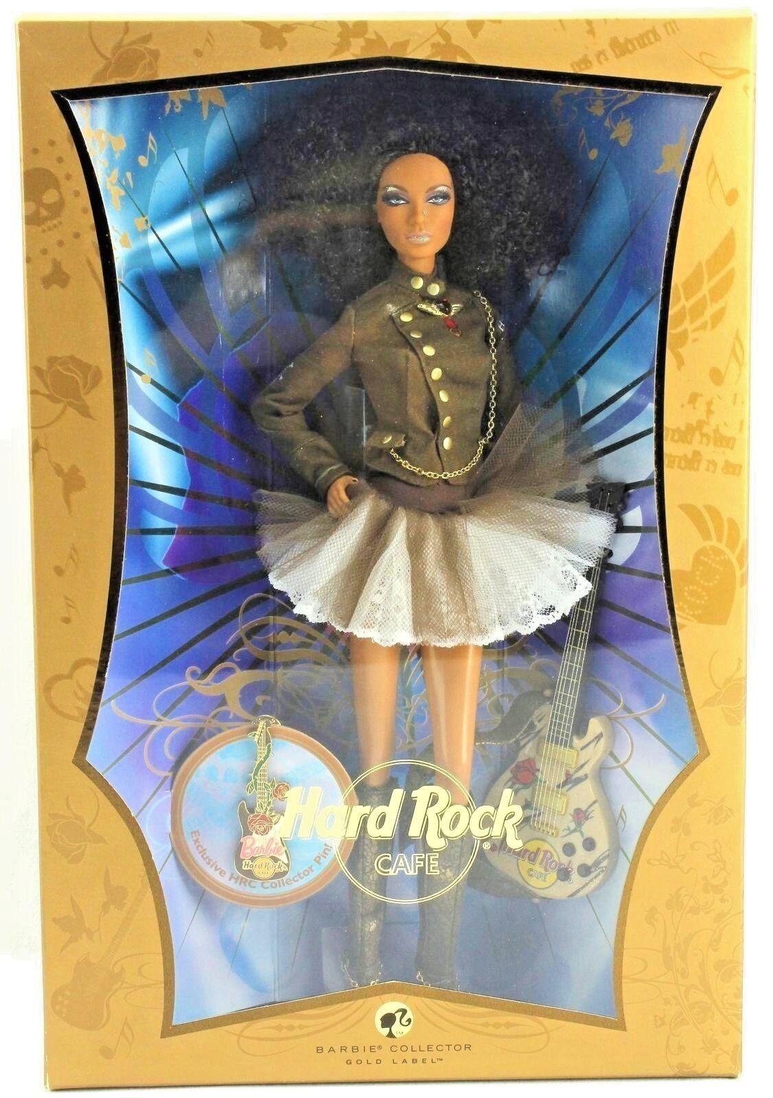 BARBIE HARD ROCK CAFE' 2007 NRFB NRFB NRFB - Gold LABEL model muse doll collection Mattel 4216d5
