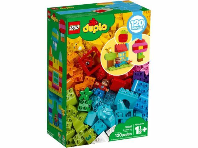 New Sealed Genuine LEGO DUPLO Creative Fun 10887 Building Blocks 120 Pcs Age 1½+