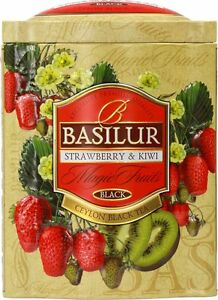 Basilur Strawberry & Kiwi   Black Tea With Wolfberry, Red Cornflower, Strawberry by Basilur