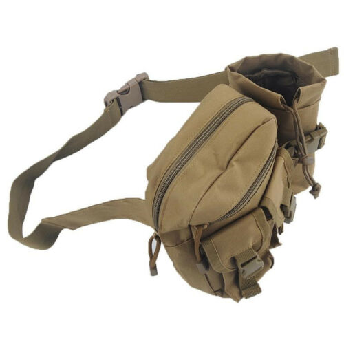 Outdoor Tactical Military Travel Hiking Water Bottle Fanny Pack Waist Bag CF