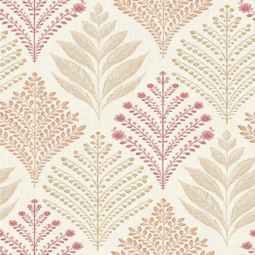 Glitter Trees Wallpaper Orange Rowan Red Grandeco Feature Washable Luxury Vinyl