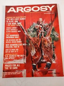 Vintage december 1960 Argosy fiction fact mens magazine
