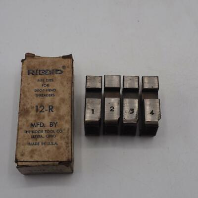 Verantwortlich Set Von Ridgid 3.8cm 12-r Rohr Einfädler Die Set Vintage West/ Kiste Fabriken Und Minen