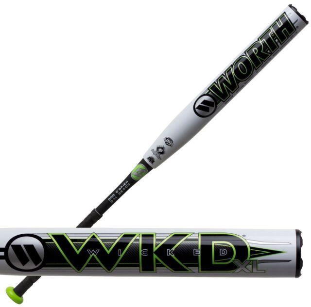 2019 Worth Wicked XL 2pc 13 5″ SSUSA Senior Softball Bat Wwkd2p 34/25