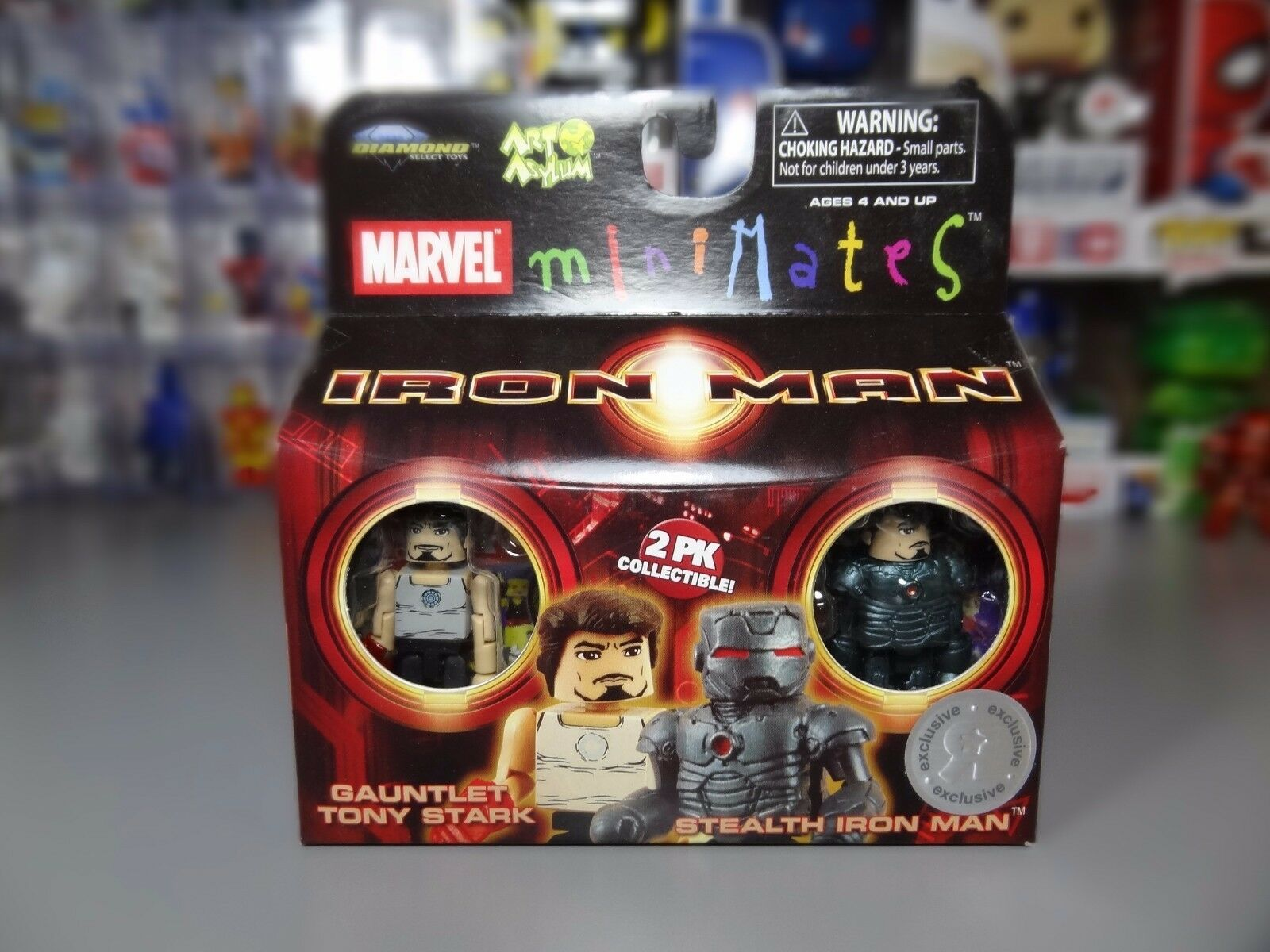 Marvel Minimates Toys R Us Series 01 Gauntlet Tony Stark / Stealth Iron Man