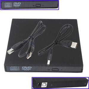 New USB 2.0 External DVD Combo CD-RW Burner Drive CD±RW DVD ROM Black