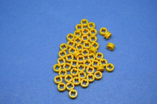 LEGO 50 x tecnica Technic STOPPER anello di distanza GIALLO YELLOW spacer RING 4265c