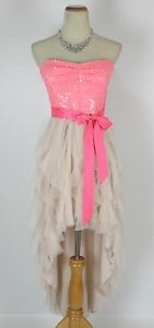 949096eed5d Teeze Me  90 Pink Evening Prom Formal Cruise Gown Dress size 7 New ...