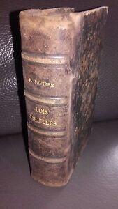 Lois-Usuale-Decreti-Ordini-H-F-River-Maresq-Parigi-1891