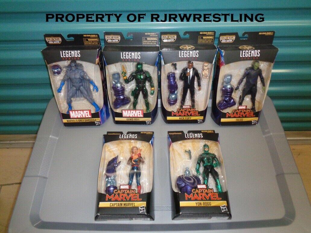 Hasbro Marvel Legends Capitán Marvel Kree Sentry Baf Serie 6  Juego de 6 figuras